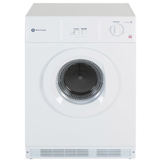 White Knight C45CW 7kg Vented Tumble Dryer in White Reverse Action