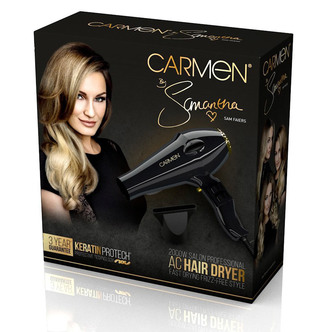 Carmen C80016 2000W Samantha Professional Hairdryer in Black