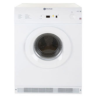 White Knight C86A7W 7kg Air Vented Tumble Dryer in White Sensor Contro