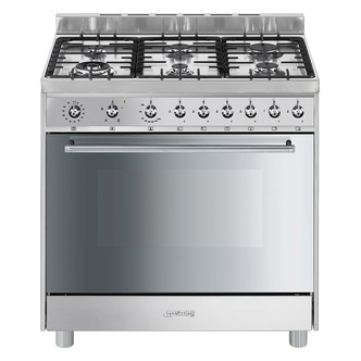 Smeg C9GVXI9 90cm Gas Range Cooker in Stainless Steel