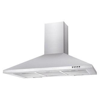 Image of Candy CCE90NX 90cm Chimney Hood in Stainless Steel 3 Speed Fan