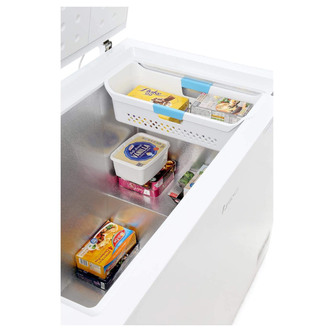 LEC CF300LWMK2 111cm Chest Freezer in White 295 Litre 0 85m F Rated