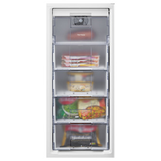 Beko CFG1501S 55cm Frost Free Fridge Freezer in Silver 2 01m F Rated