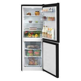 Beko CFG3552B 55cm Frost Free Fridge Freezer in Black 1 53m F Rated