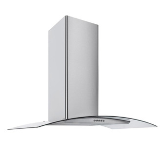 Image of Culina CG70SSPF 70cm Curved Glass Chimney Hood in St Steel