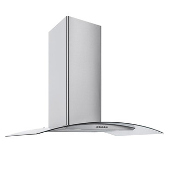 Image of Culina CG90SSPF 90cm Curved Glass Chimney Hood in St Steel