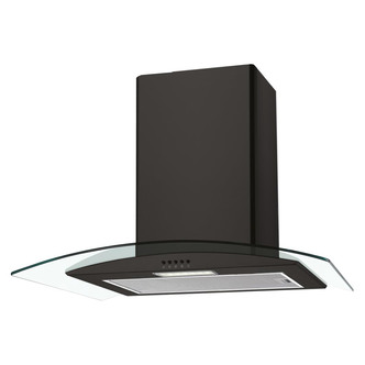 Image of Candy CGM60NN 60cm Curved Glass Chimney Hood in Black
