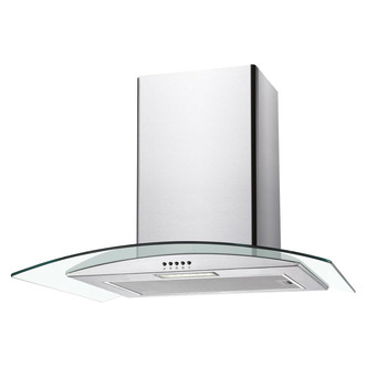 Image of Candy CGM60NX 60cm Curved Glass Chimney Hood in Stainless Steel