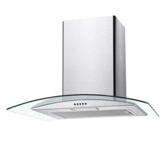Image of Candy CGM70NX 70cm Curved Glass Chimney Hood in Stainless Steel
