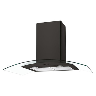 Image of Candy CGM90NN 90cm Curved Glass Chimney Hood in Black