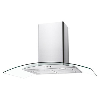 Image of Candy CGM90NX 90cm Curved Glass Chimney Hood in Stainless Steel