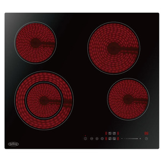 Image of Belling CH602TBLK 60cm Built In Frameless Ceramic Electric Hob in Blac
