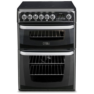 Cannon CH60EKKS 60cm Electric Cooker in Black Ceramic Hob Double Oven