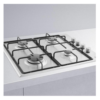Image of Beko CIHYG21SX 60cm Built In 4 Burner Gas Hob in Stainless Steel