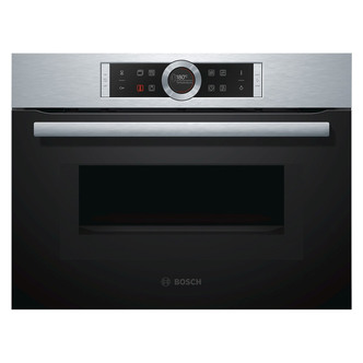 Image of Bosch CMG633BS1B Built in Compact Oven with Microwave in Brushed Steel