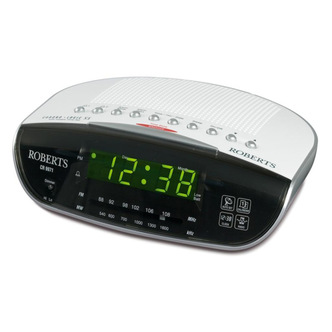 Roberts CR9971 Clock Radio with Dual Alarm Instant Time Set