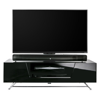 Image of Alphason CRO21200BKBK Chromium 2 Cantilever TV Cabinet 1200mm Wide in