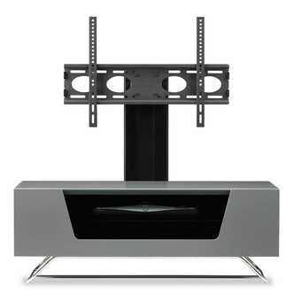 Image of Alphason CRO21000BKGR Chromium 2 Cantilever TV Cabinet 1000mm Wide in