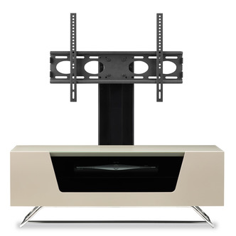 Image of Alphason CRO21000BKIV Chromium 2 Cantilever TV Cabinet 1000mm Wide in