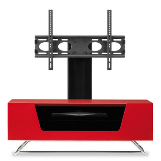 Image of Alphason CRO21000BKRE Chromium 2 Cantilever TV Cabinet 1000mm Wide in