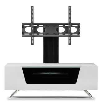 Image of Alphason CRO21000BKWH Chromium 2 Cantilever TV Cabinet 1000mm Wide in