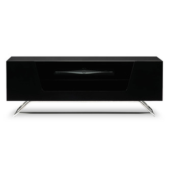 Alphason CRO21000CBBK Chromium 2 TV Cabinet 1000mm Wide in Black High