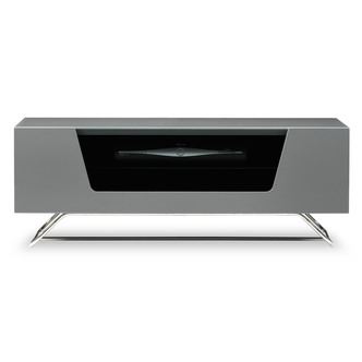 Image of Alphason CRO21000CBGR Chromium 2 TV Cabinet 1000mm Wide in Grey High G