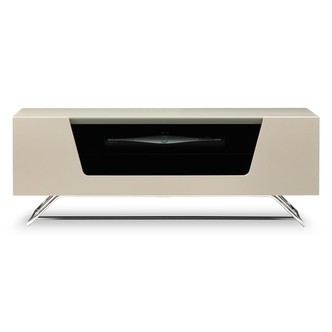 Image of Alphason CRO21000CBIV Chromium 2 TV Cabinet 1000mm Wide in Ivory High