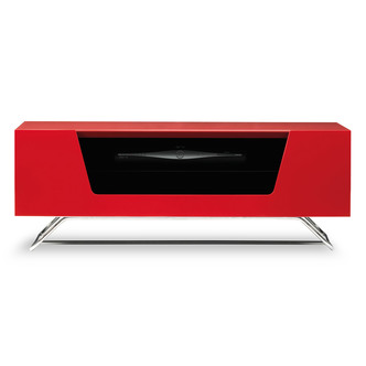 Image of Alphason CRO21000CBRD Chromium 2 TV Cabinet 1000mm Wide in Red High Gl