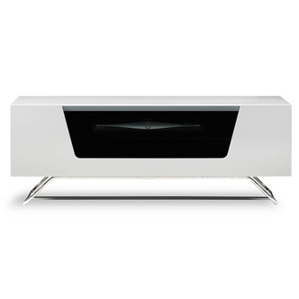 Image of Alphason CRO21000CBWH Chromium 2 TV Cabinet 1000mm Wide in White High