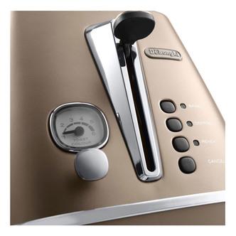 Delonghi CTI2003 BZ DISTINTA 2 Slice Toaster in Matt Bronze