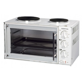 Essential CTTC1 WH Table Top Compact Electric Cooker in White 21L