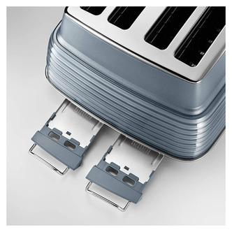 Delonghi CTZS4003AZ SCOLPITO 4 Slice Toaster Mineral Blue