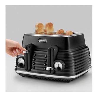 Delonghi CTZS4003BK SCOLPITO 4 Slice Toaster Black
