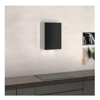 Neff D35KHV2S0B Wall Cube Cooker Hood in Black Glass