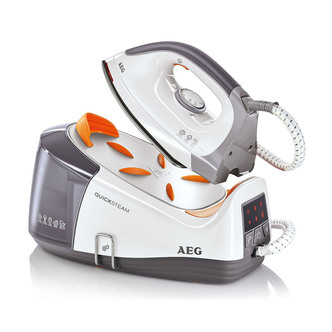Image of AEG DBS3350U Quick Steam Generator Iron in White Silver 2350W