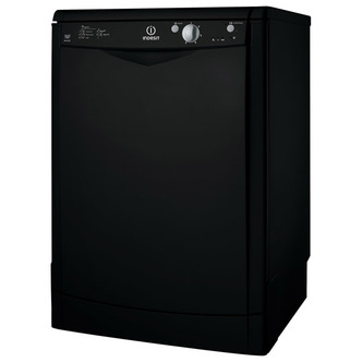 indesit dfg15b1k 60cm dishwasher in black 13 place settings a rated