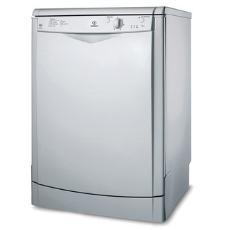Indesit DFG15B1S 60cm Dishwasher in Silver 13 Place Set A AA Rated
