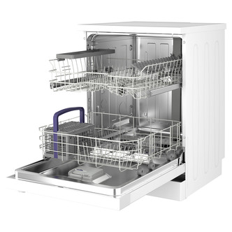Beko DFN04C11W 60cm Dishwasher in White 13 Place Setting A Rated