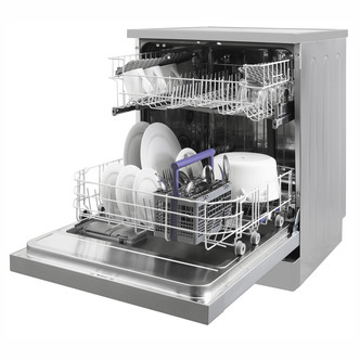 Beko DFN05R10S 60cm Dishwasher in Silver 12 Place Setting A Rated