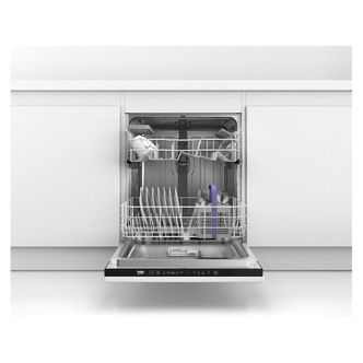 Beko DIN15C10 60cm Integrated 12 Place Dishwasher in White A Rated