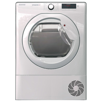 Hoover DNCD813B 8kg Condenser Tumble Dryer in White Sensor B Energy