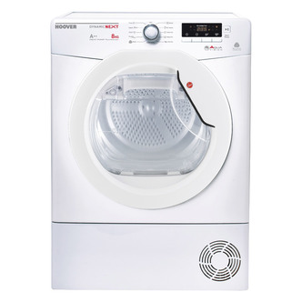 Hoover DNHD813A2 8kg Heat Pump Condenser Tumble Dryer in White A Rated