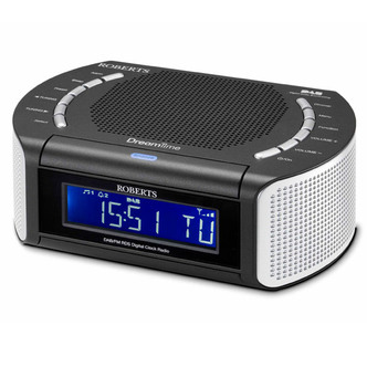 Roberts DREAMTIME 2 Clock Radio with DAB and Dual Alarm Black