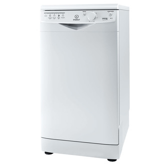 Indesit DSR15B 45cm Slimline Dishwasher in White 10 Place Settings