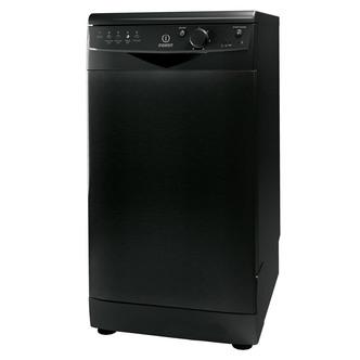 Indesit DSR15BK 45cm Slimline Dishwasher in Black 10 Place Settings