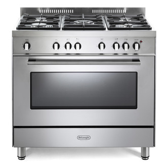 Image of Delonghi DSR906G1 Professional 90cm Single Cavity Gas Range Cooker St
