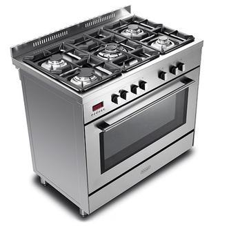 Image of Delonghi DSR917DFM Modern 90cm Single Cavity Dual Fuel Range Cooker St