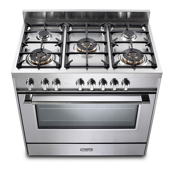 Image of Delonghi DSR927GX Space 90cm Single Cavity Gas Range Cooker in St Stee