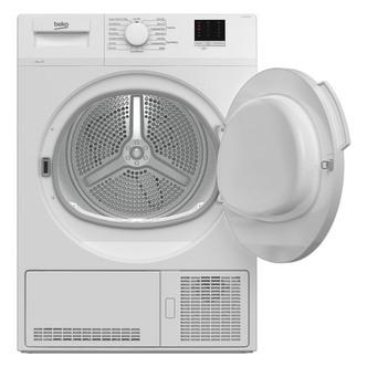 Beko DTLCE80041W 8kg Condenser Tumble Dryer in White Sensor B Energy